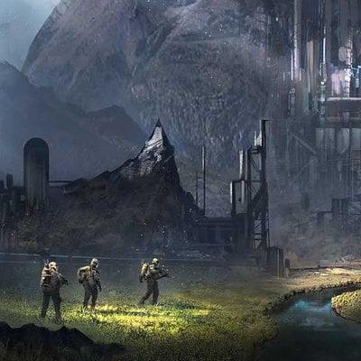 Futuristic valley cg2