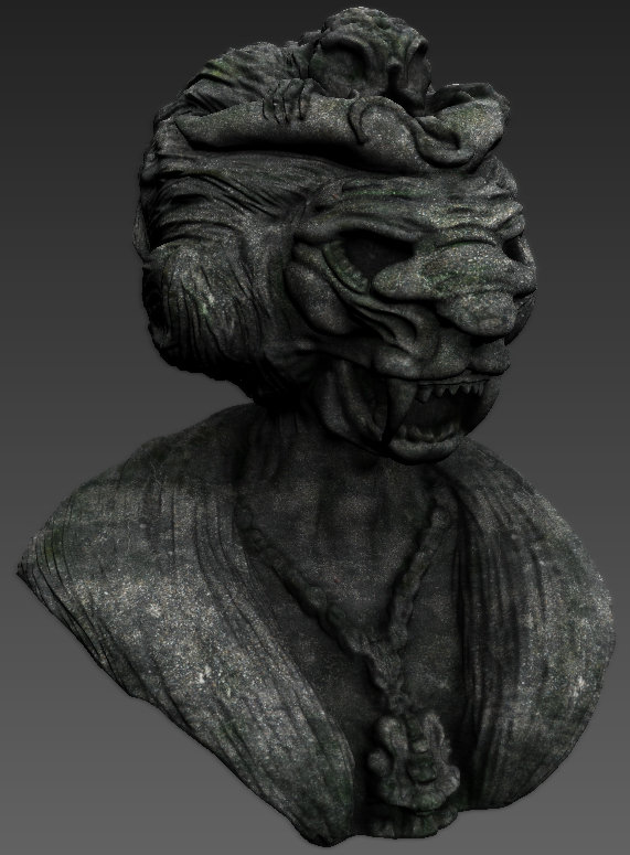 Lioness statue