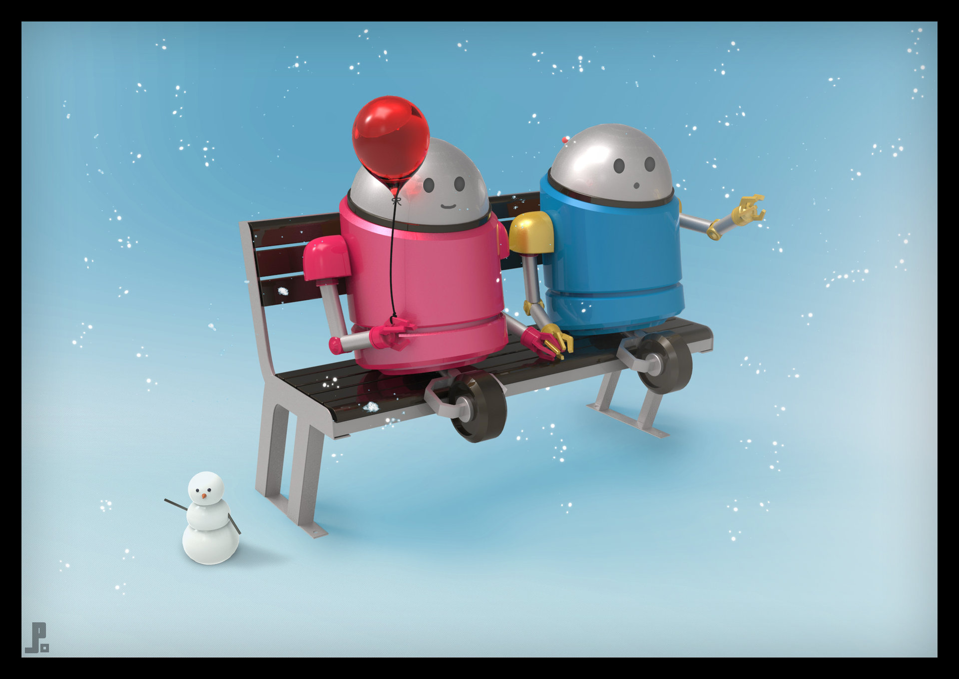 Minibots bench