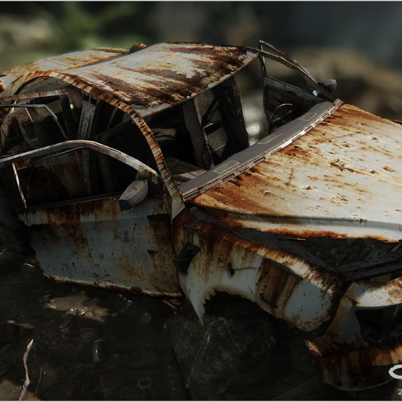 Abandoned Civilian Car