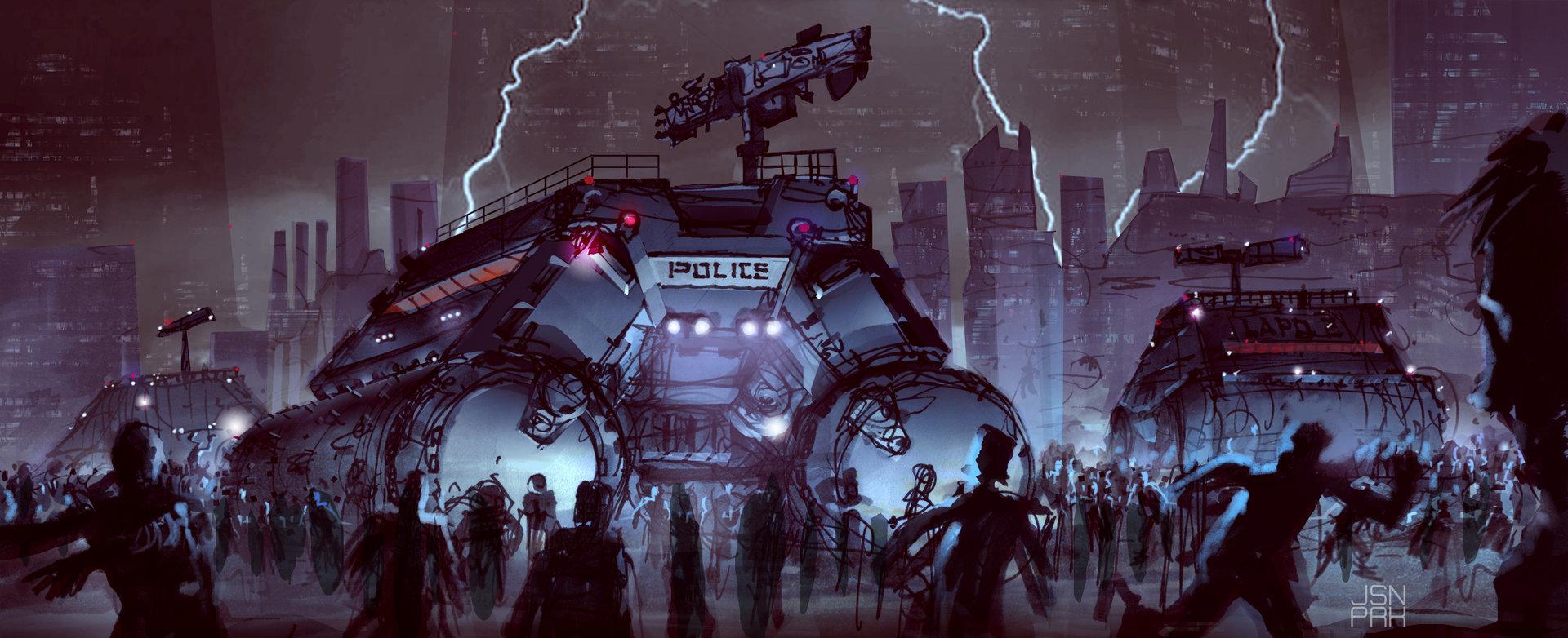 ArtStation - LAPD police state 2078, jason park