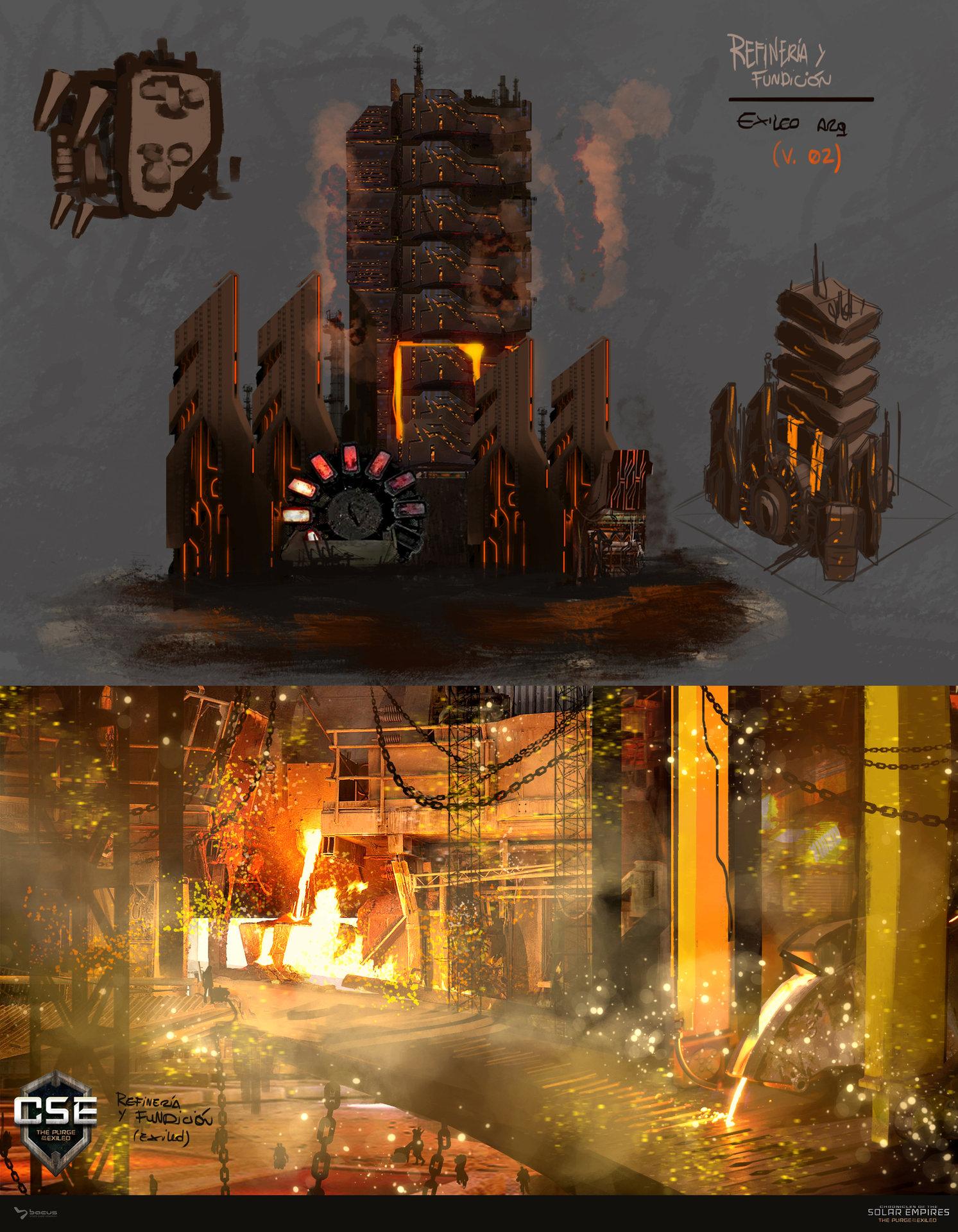 17 refineria y fundicion   exiled  concept