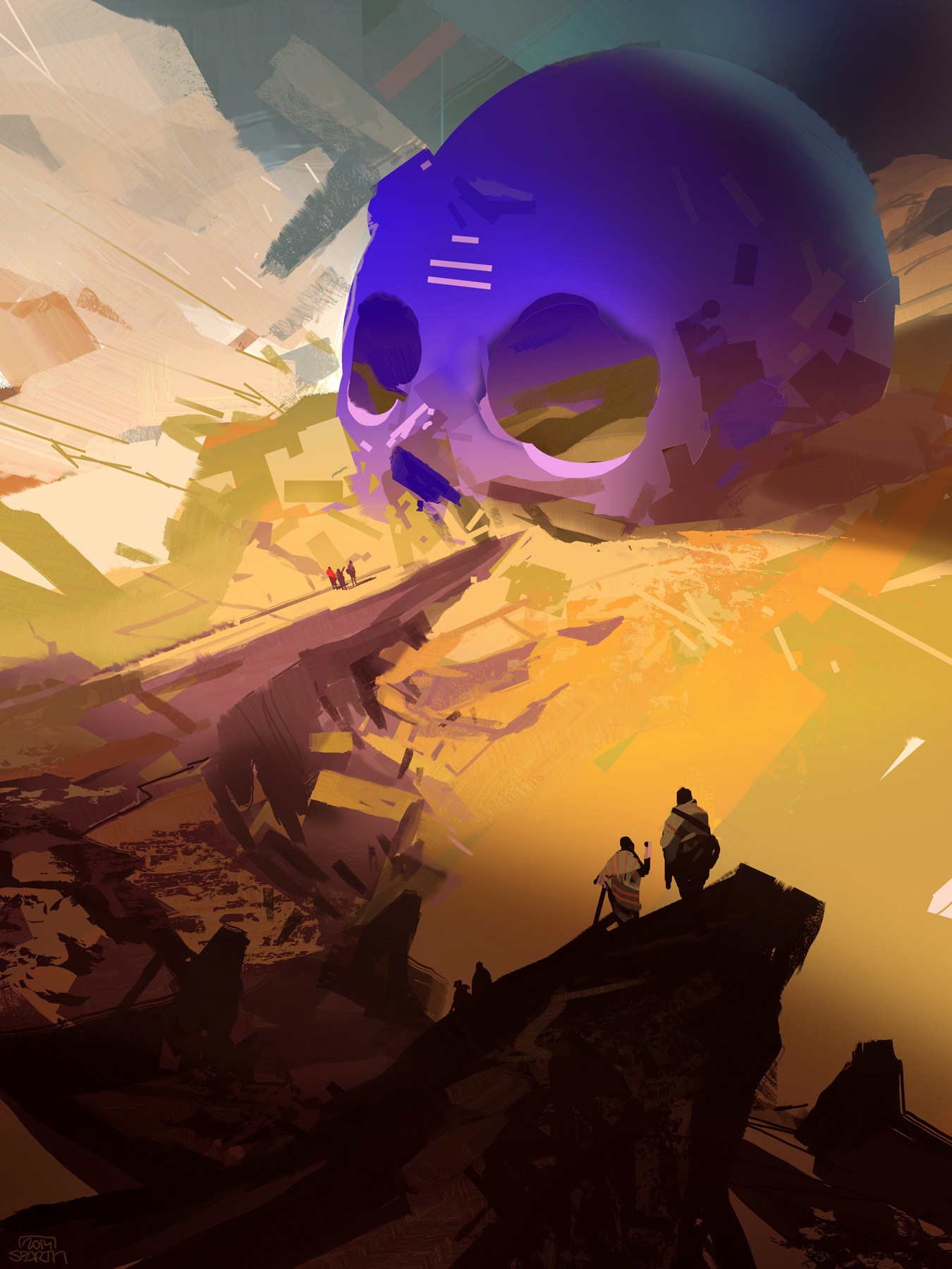 Sparth   buried blue skull   2014