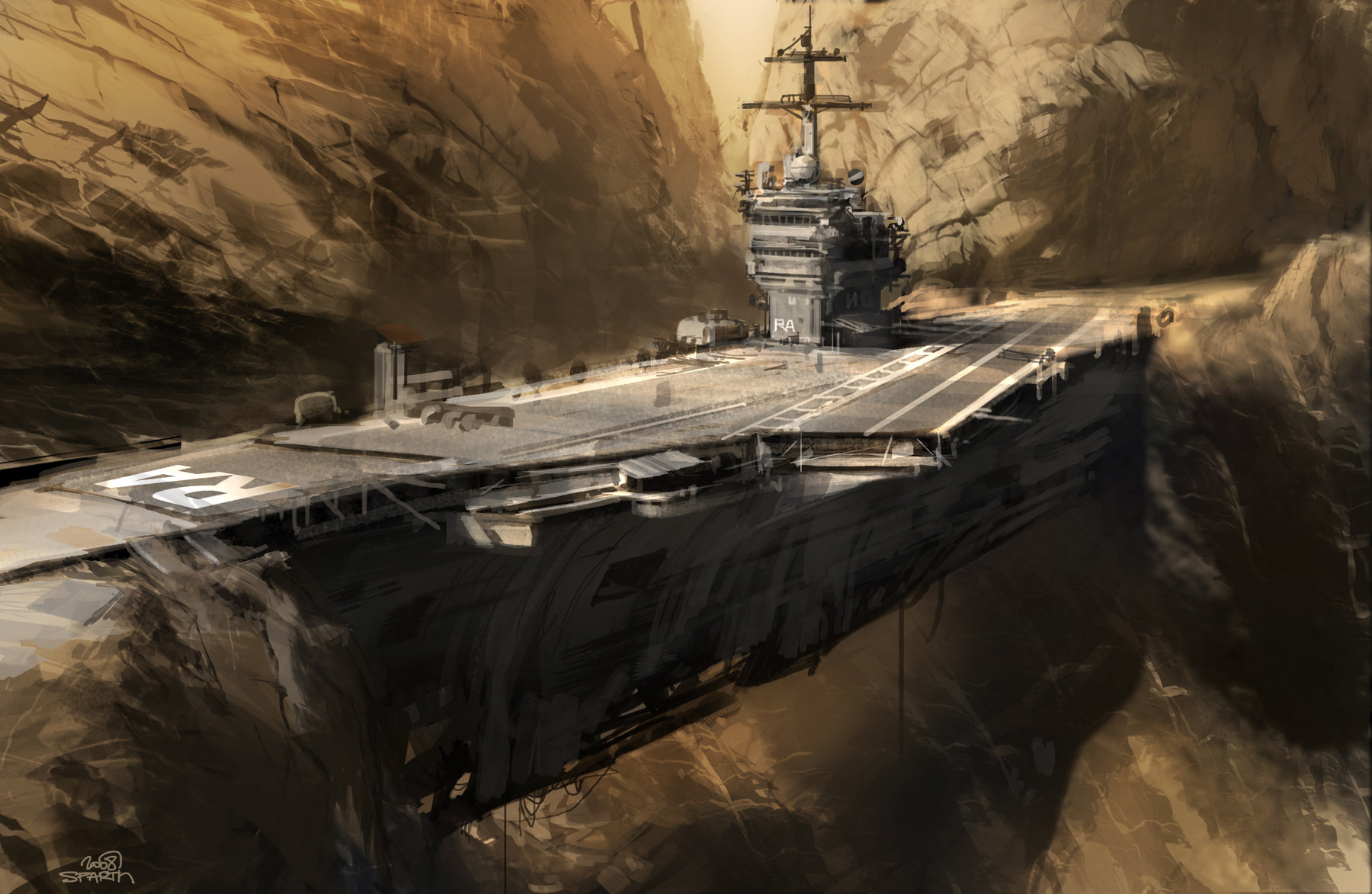 Sparth rage aircraft carrier concept b 2008