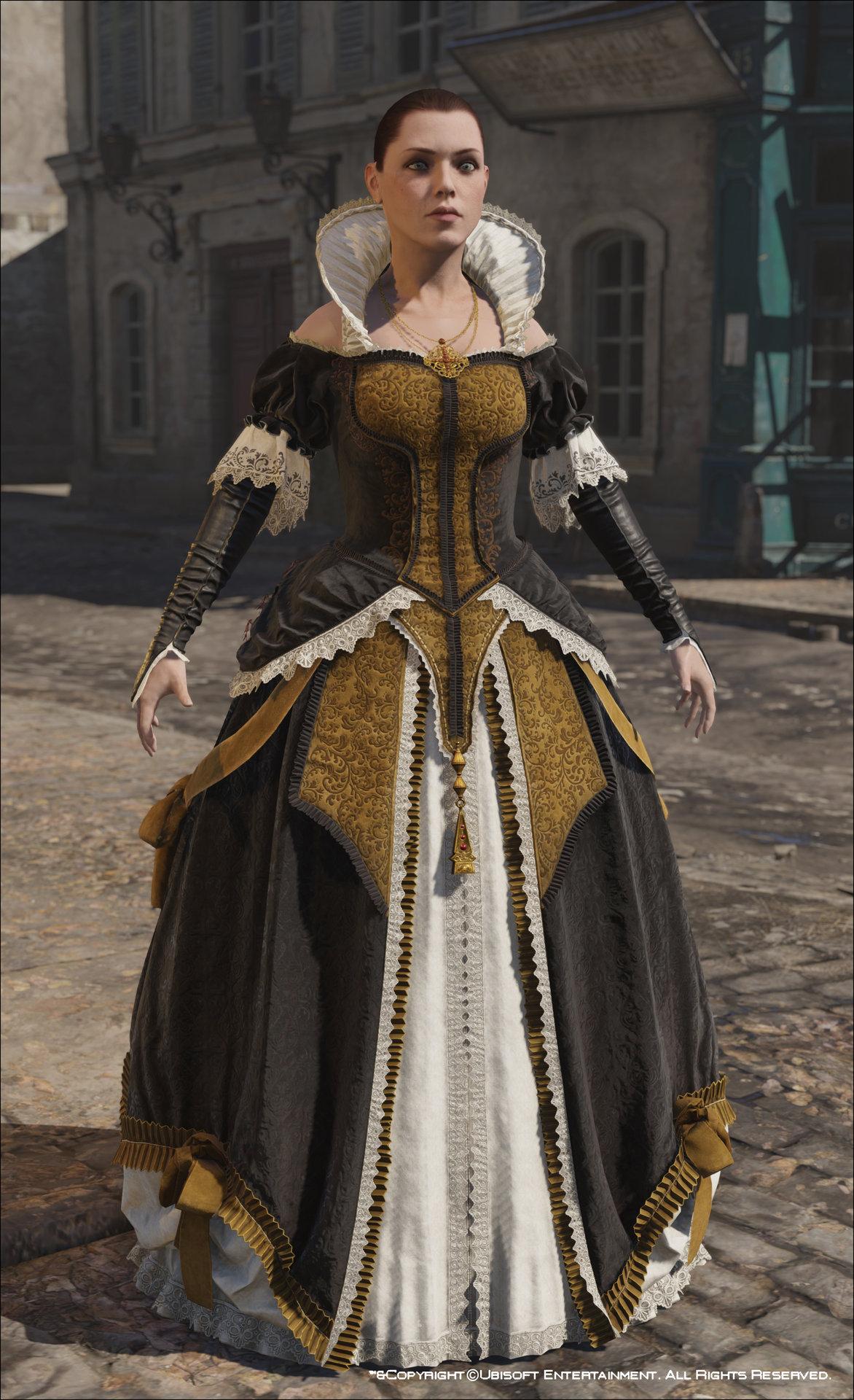 ArtStation - Assassin's Creed Unity, Elise's Evening Dress