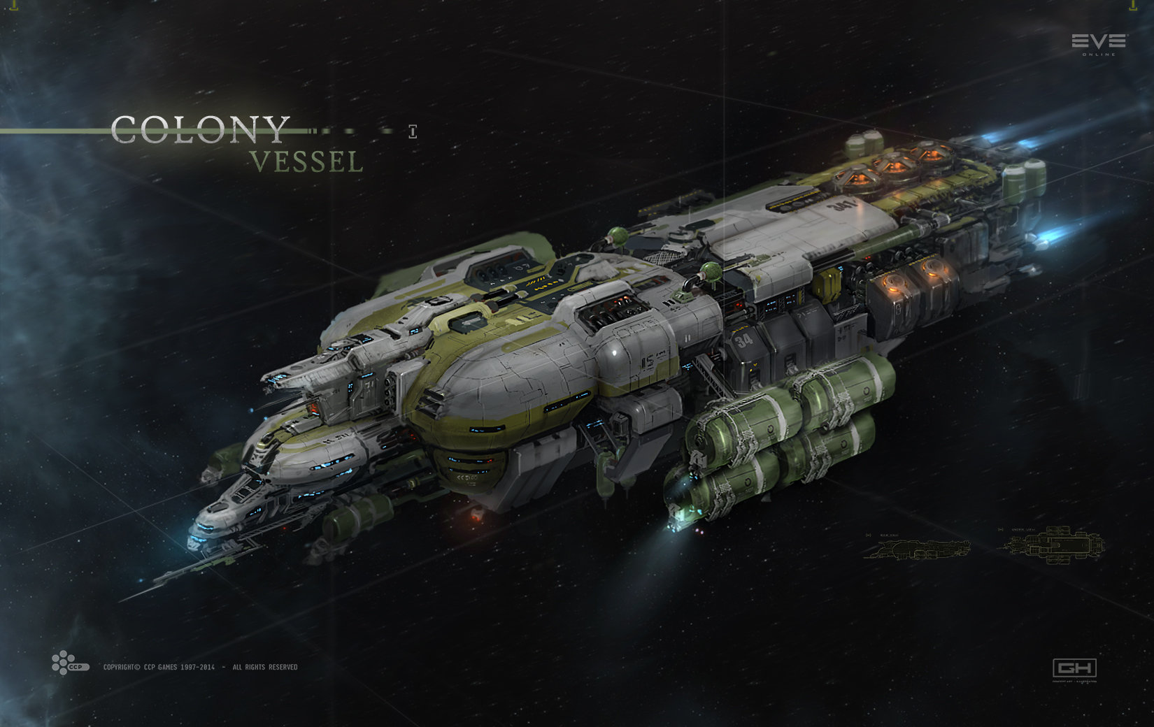 "ArtStation - Colony Ship for cinematic trailer ""EVE ..."