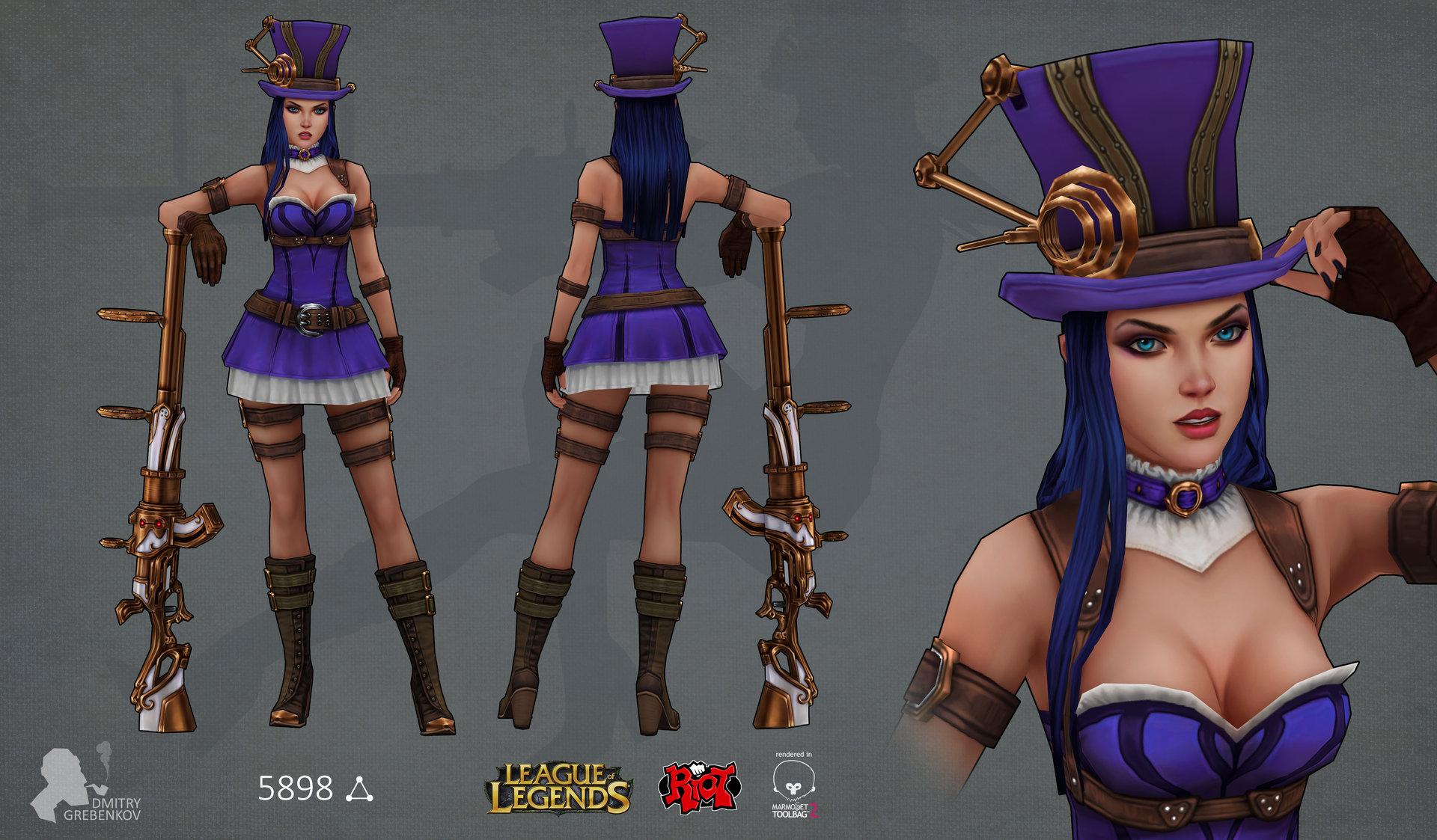 League Of Legends Character Design Contest : Artstation riot art contest caitlyn dmitry grebenkov