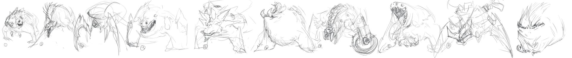 Carlo spagnola oculus rift creature sketches