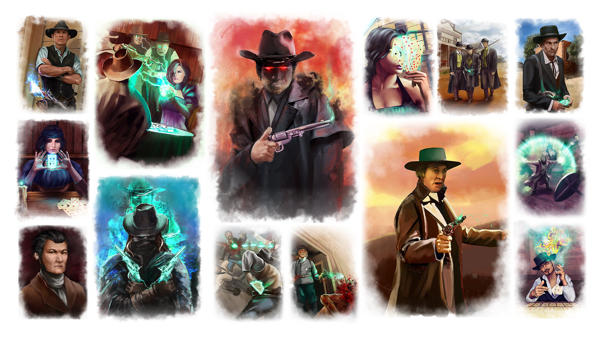 Artstation Illustrations For Deadlands Reloaded Aces