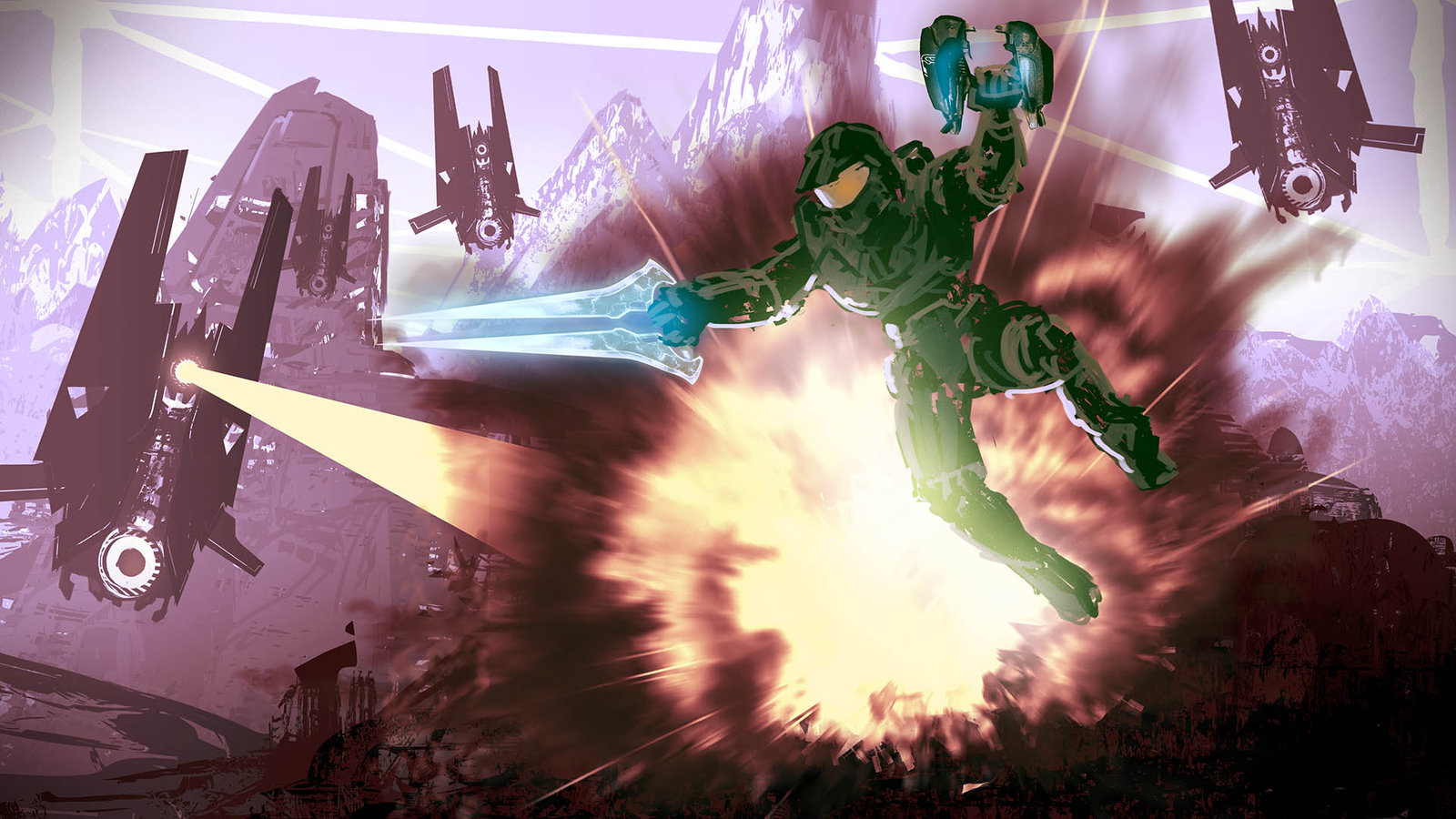 The Usual Welcome - Halo Fan Art