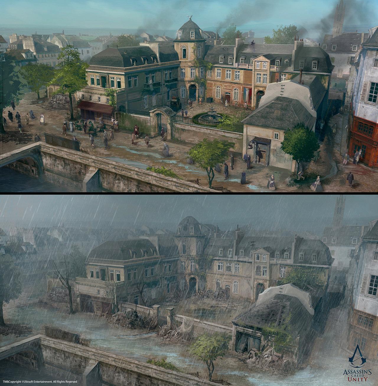 Assassin's Creed Unity /// Café théâtre exterior upgrades