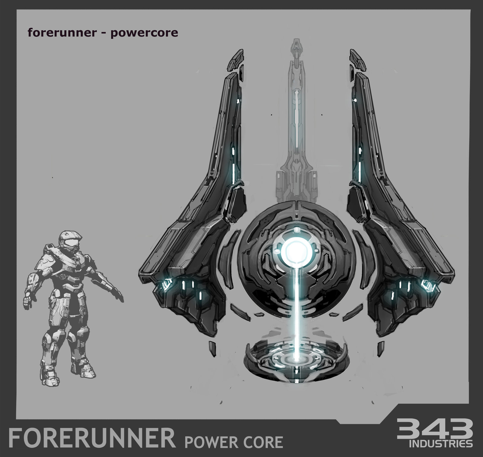 Forerunner Power Core for Halo 4