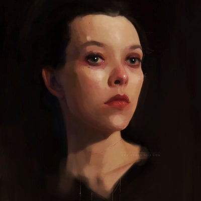 Portrait of Claire - Study