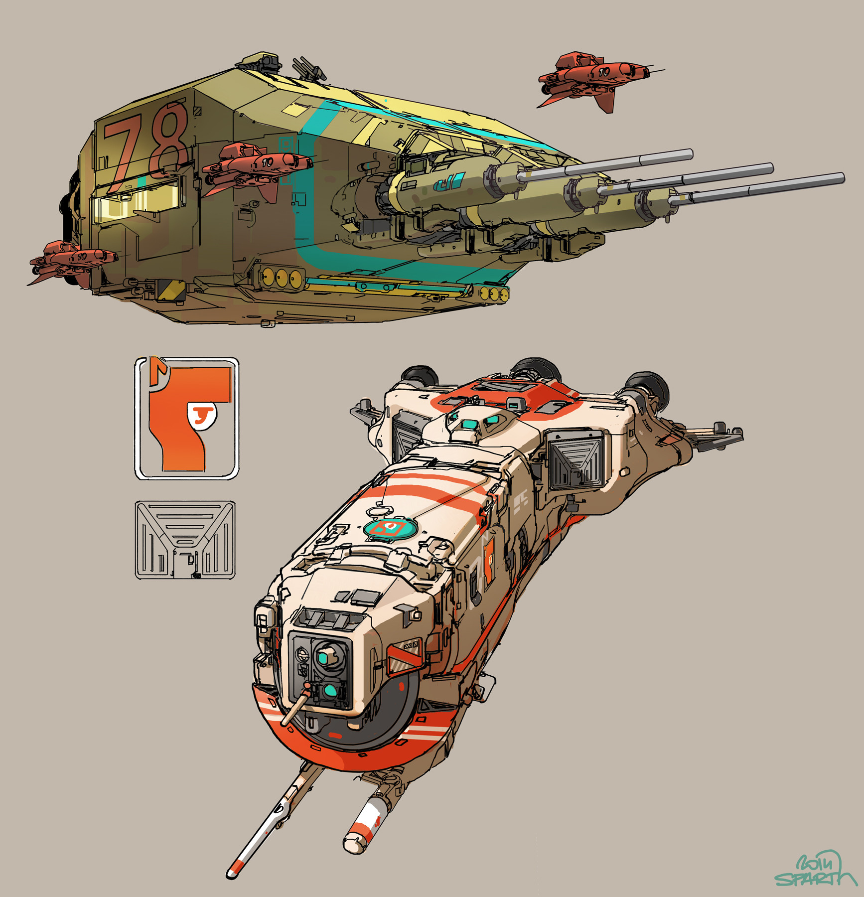 Sparth nicolas bouvier 2 vehicles with stripes final flat small