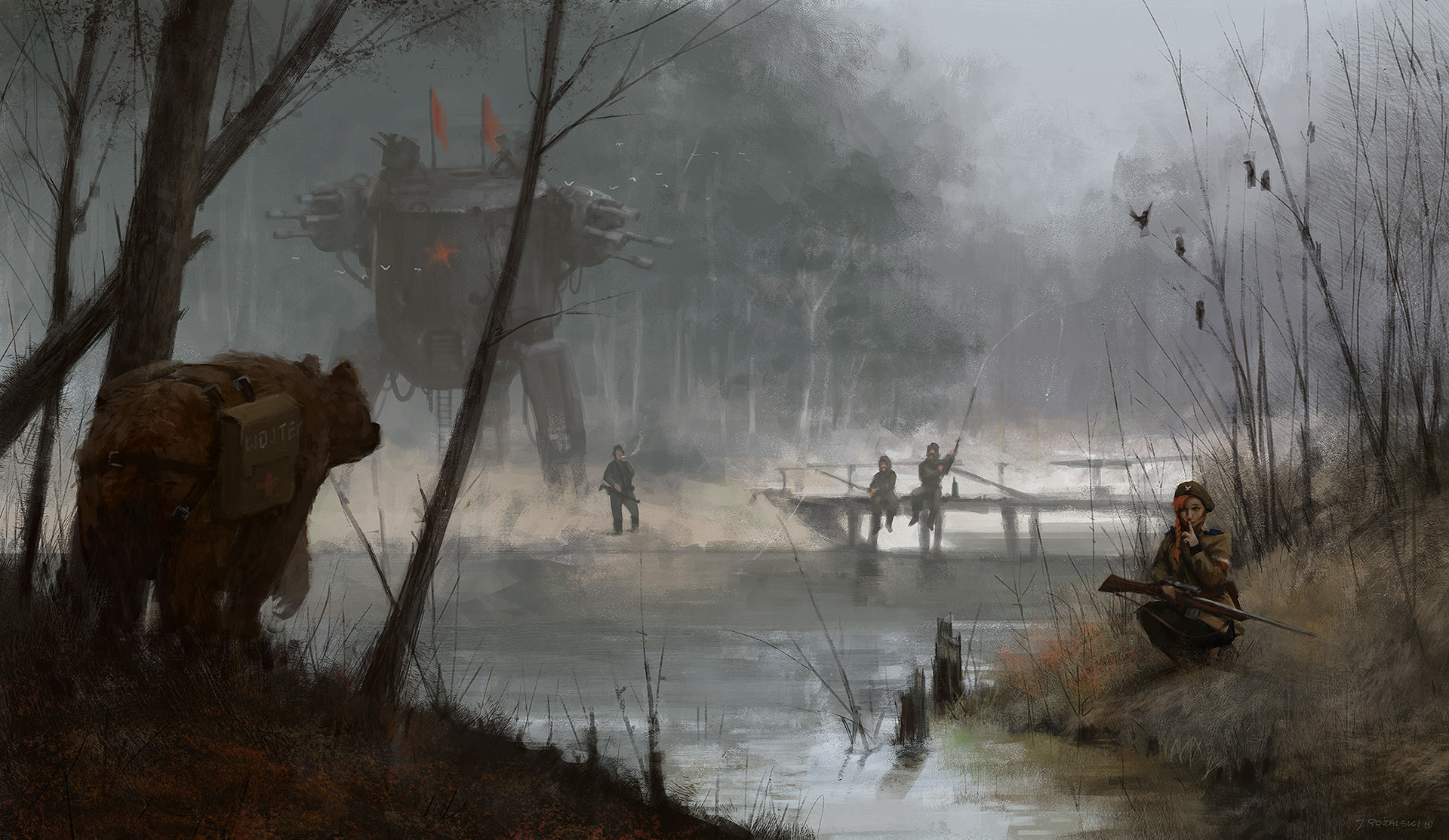Jakub rozalski 1920 most1 small