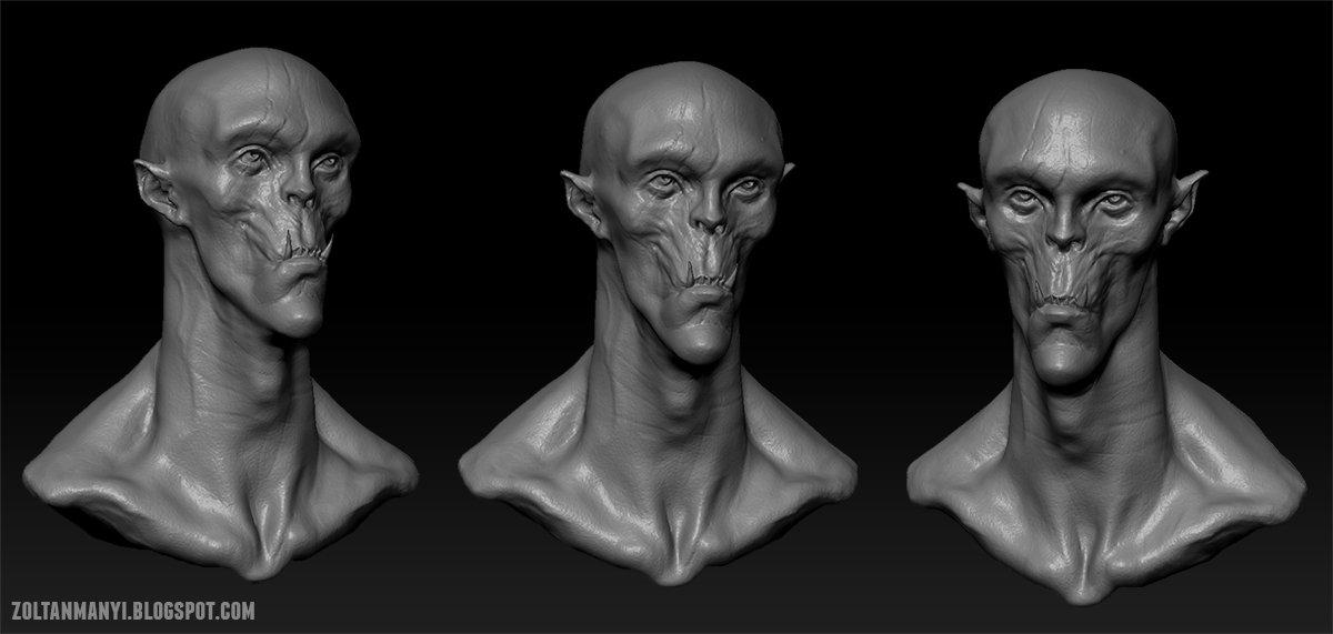 Zoltan manyi ork conceptsculpt