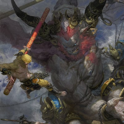 Fenghua zhong bull demon king vs monkey king