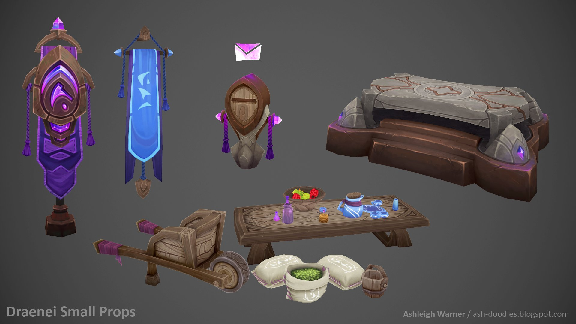 Artstation Draenei Small Props Ashleigh Warner