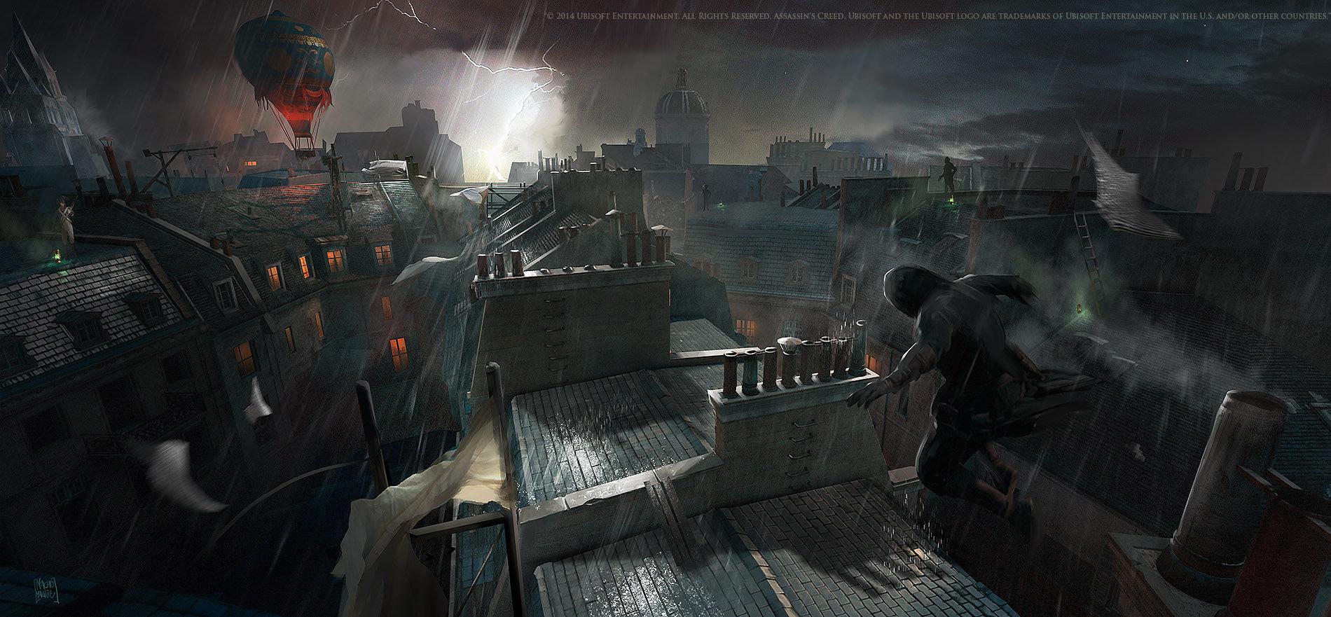 Artstation Assassin S Creed Unity Balloon Chase Nacho