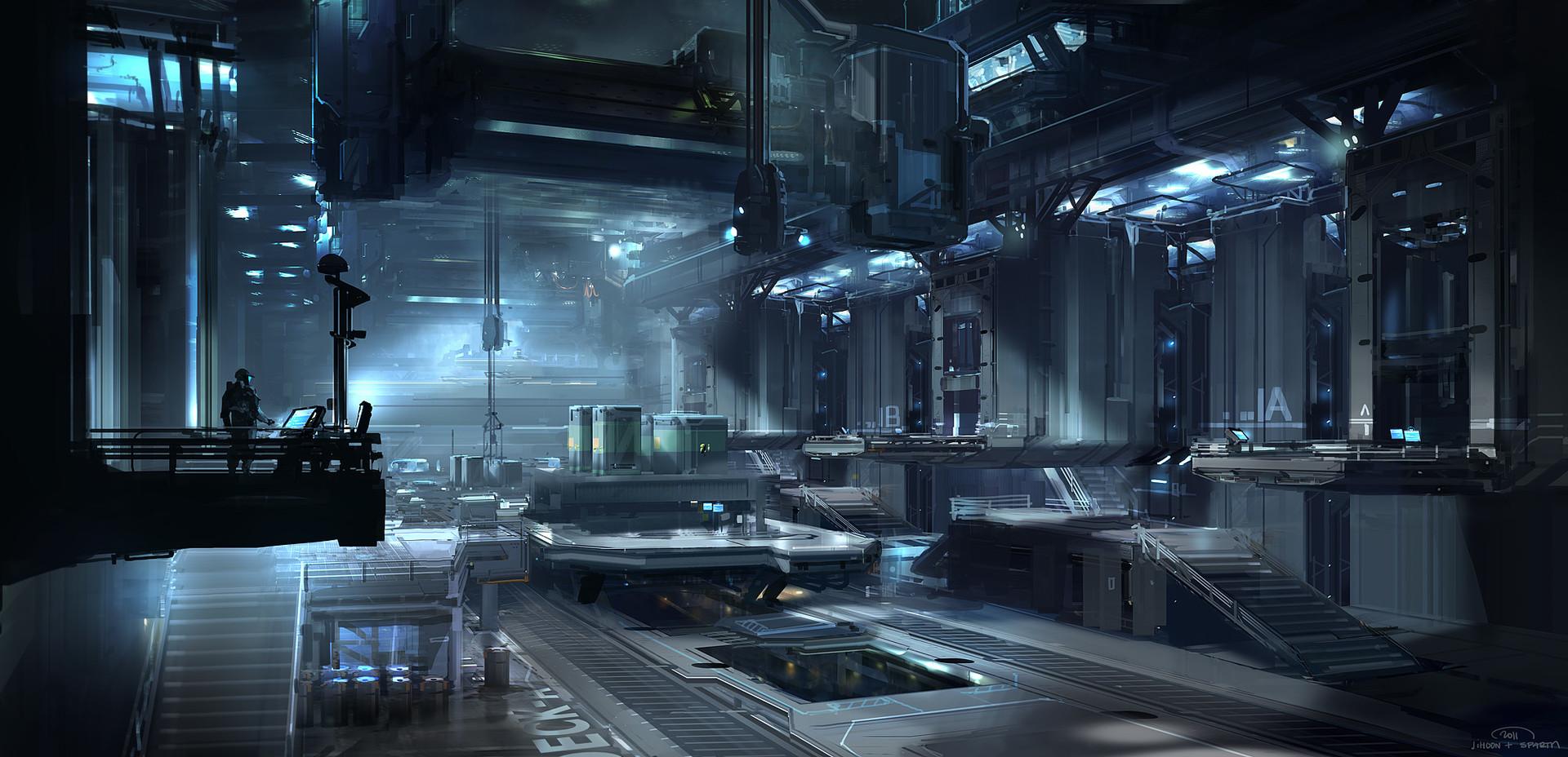 Artstation Halo 4 Infinity Hangar Sparth