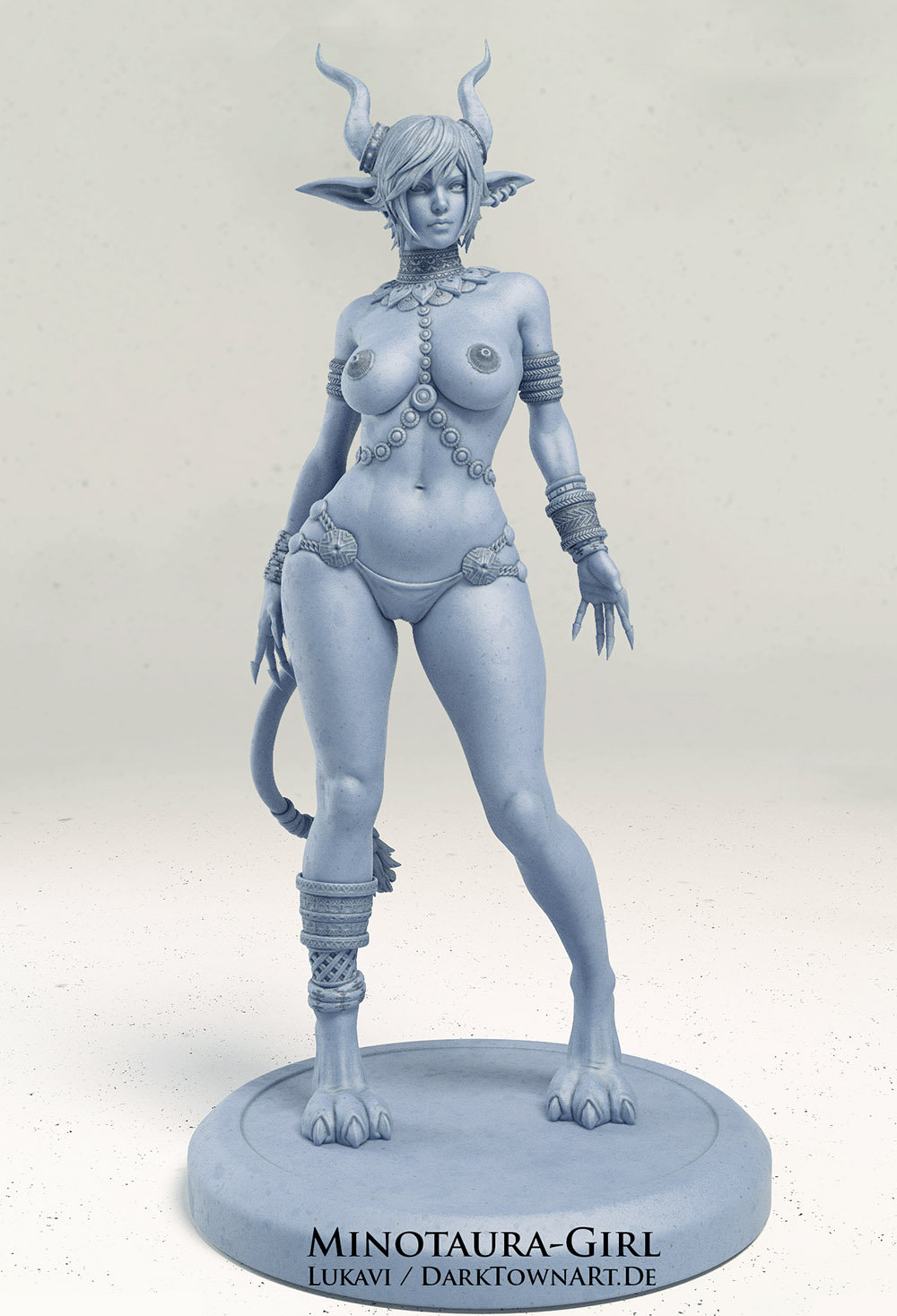3D Model, Nipples Are Covered With Golden Plates (See Painted Variant/ Concept Art)