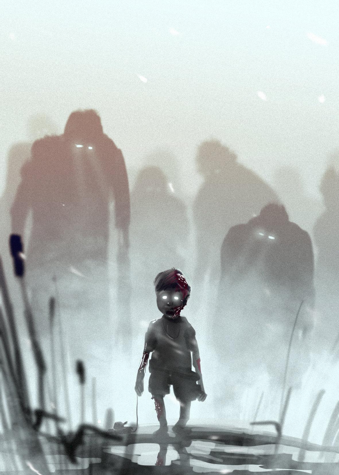 Gediminas skyrius spitpaint zombie kid