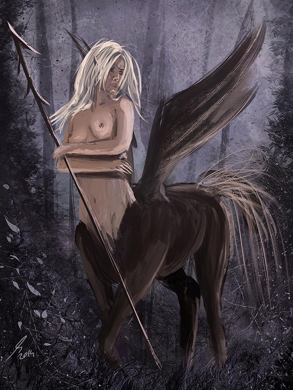 Raistlin majere winged centaur render