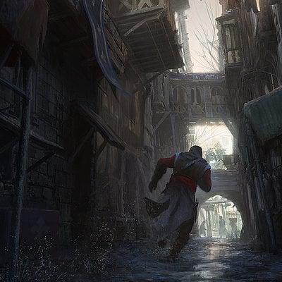Gilles beloeil acu ev paintover medieval street gbeloeil