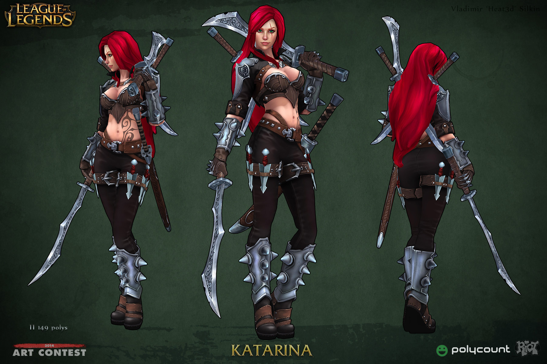League Of Legends Character Design Contest : Artstation league of legends katarina vladimir silkin