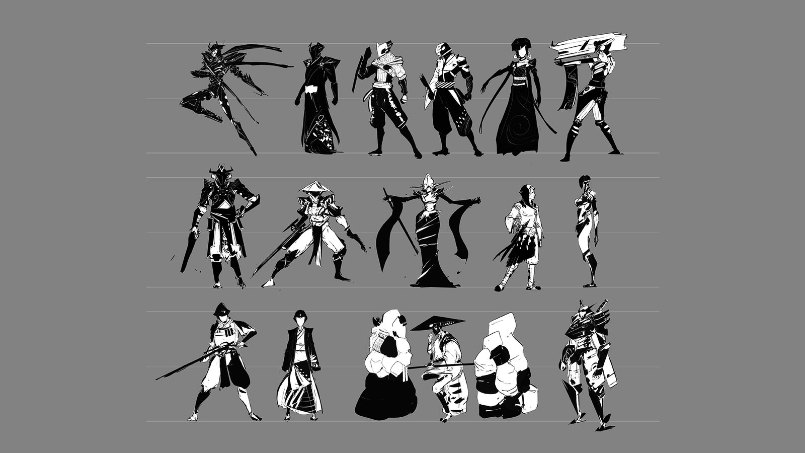 Alchemy sketches for character concepts