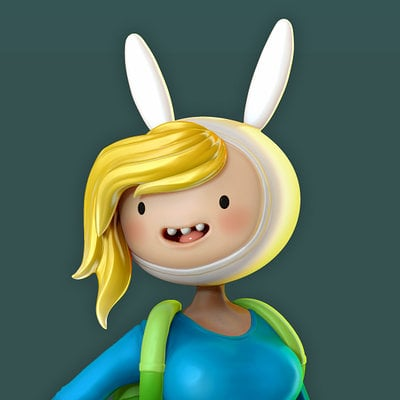 Fionna and Cake! From Adventure Time