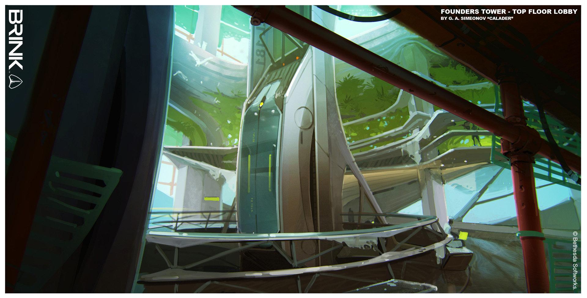 Artstation Brink Founders Tower Elevator Lobby Georgi Simeonov