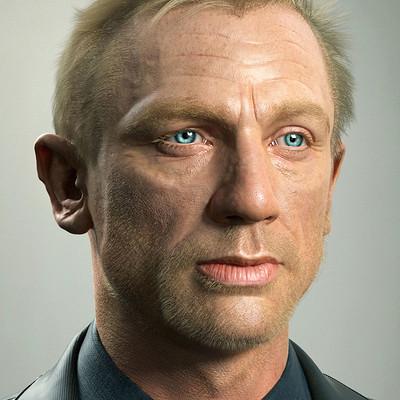 3d Portrait of Daniel Craig