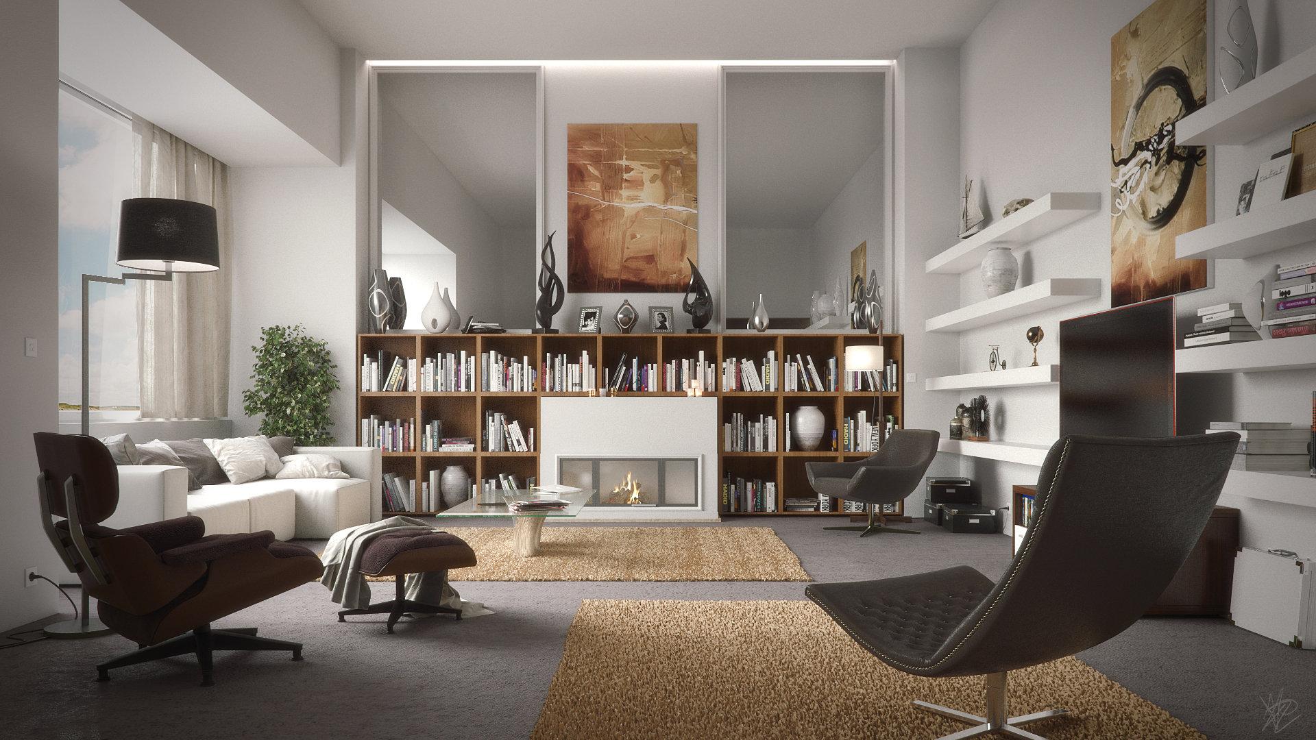 Artstation Living Room Done In Corona Render Antonio
