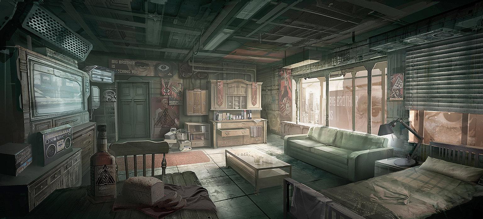 ArtStation 1984 George Orwell Winston39s room