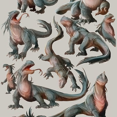 Boris kiselicki lizard sketches01