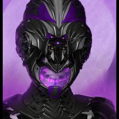 Travis lacey female sci fi helmate travis lacey