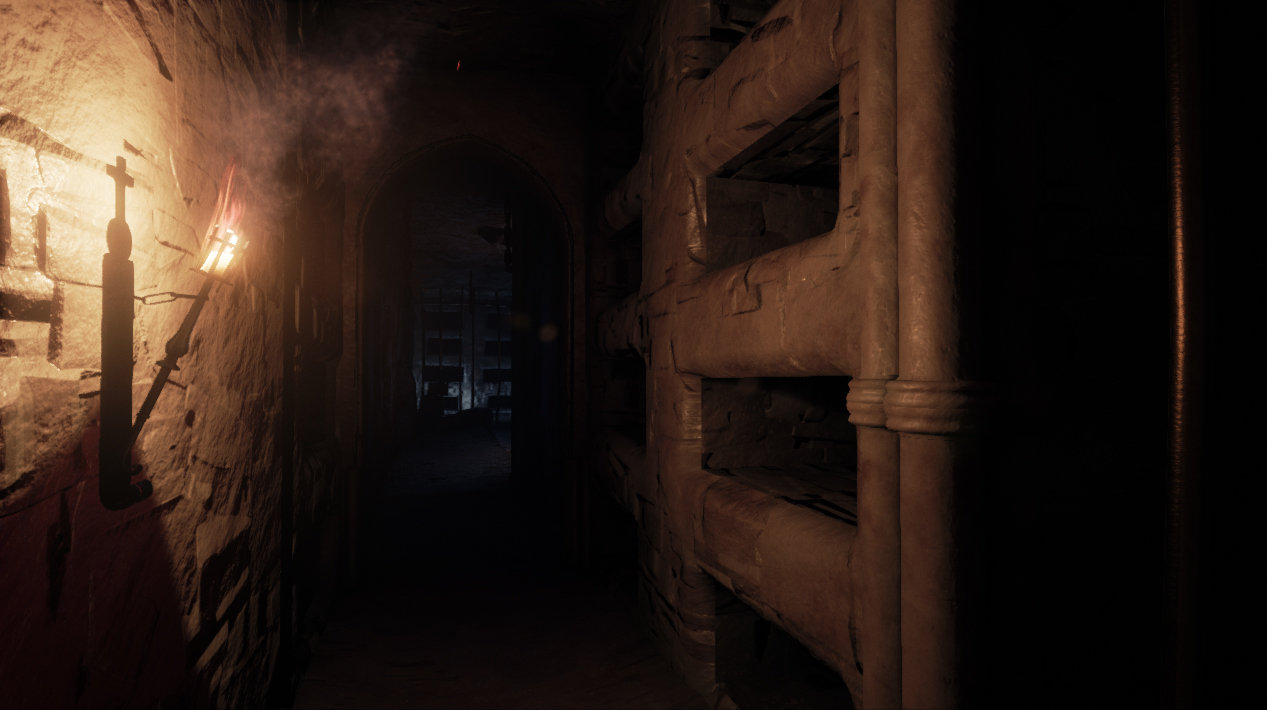 Modelling catacomb's modular wall, torch and light