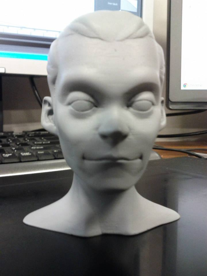 Printed result, sanded and primed with spray paint