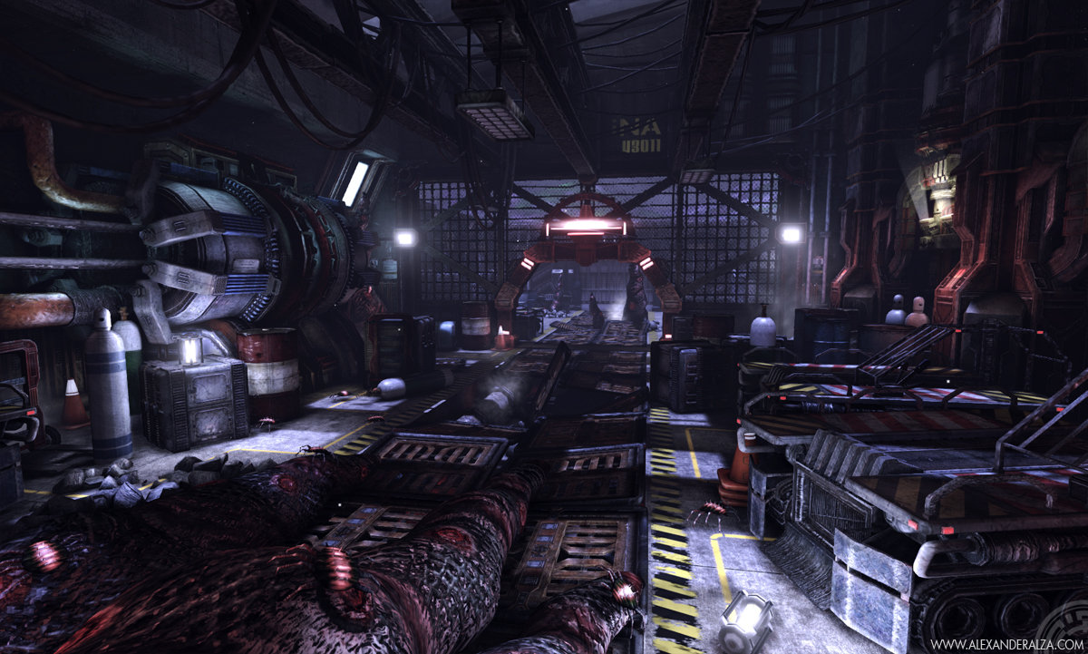 Stockpile scene in UDK (1 of 6)