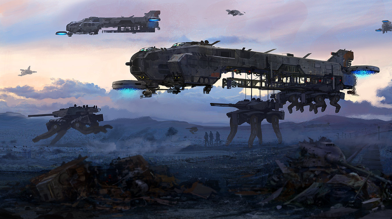 Edouard groult dropship vehicules finis