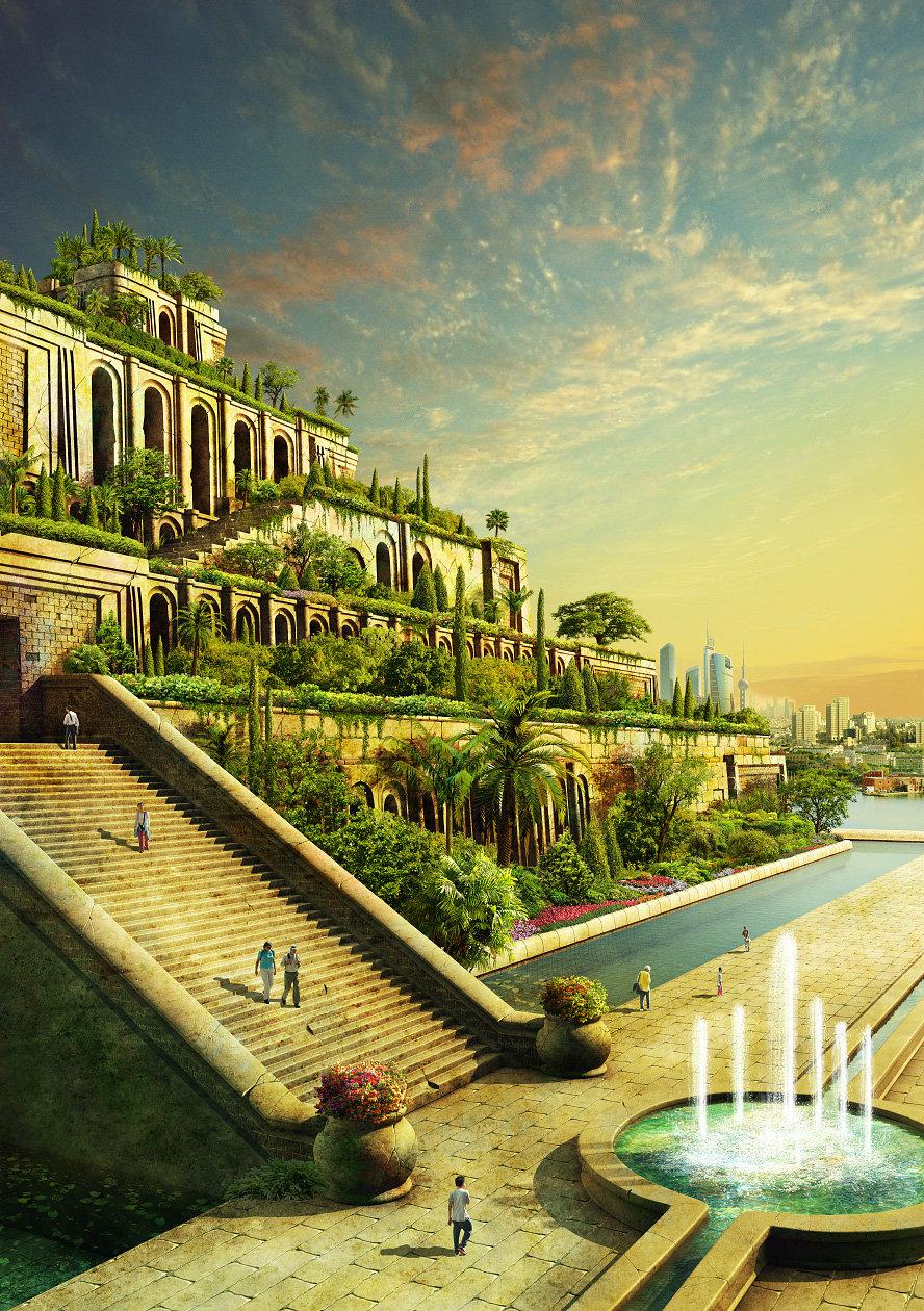 artstation the hanging gardens of babylon evgeny kazantsev. Black Bedroom Furniture Sets. Home Design Ideas