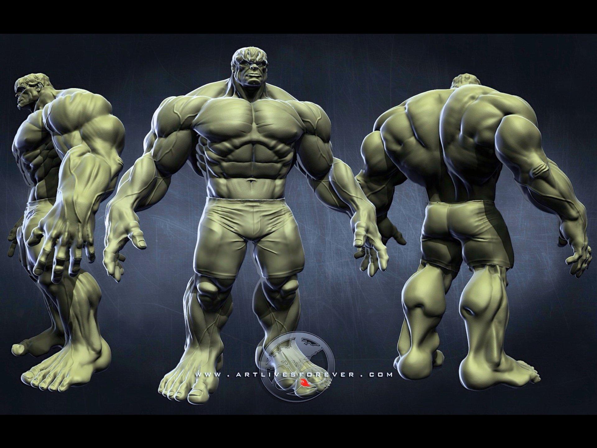 The Hulk www.artlivesforever.com