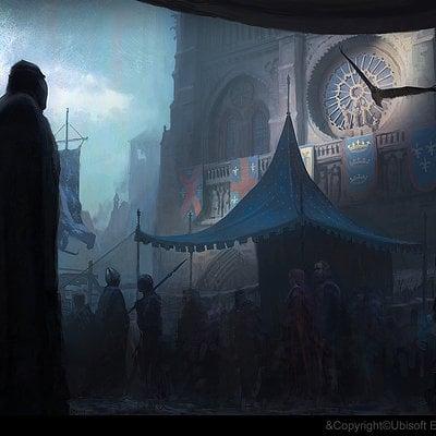 Gilles beloeil acu ev market in front of notre dame gbeloeil