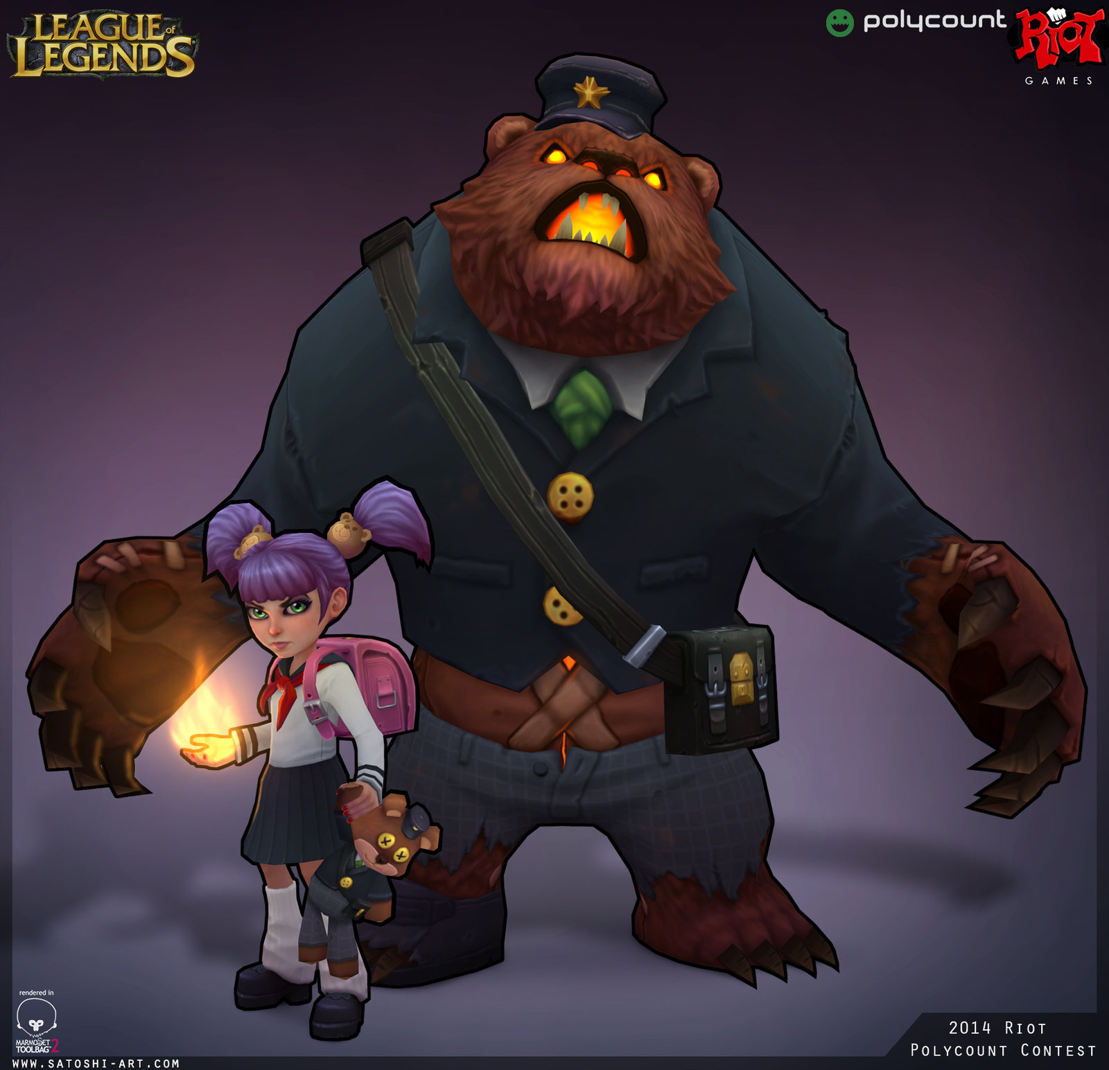 Polycount RIOT Challenge 2014 Annie and Tibbers