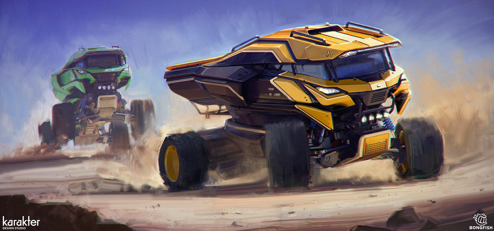 ArtStation - Gauntlet Truck Design 2, Mike Hill