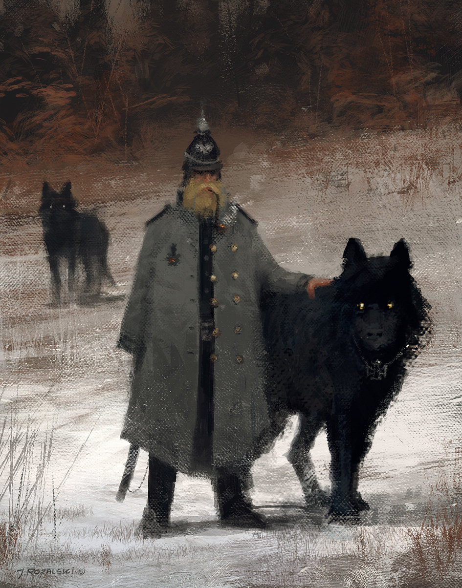 Jakub rozalski wolf1