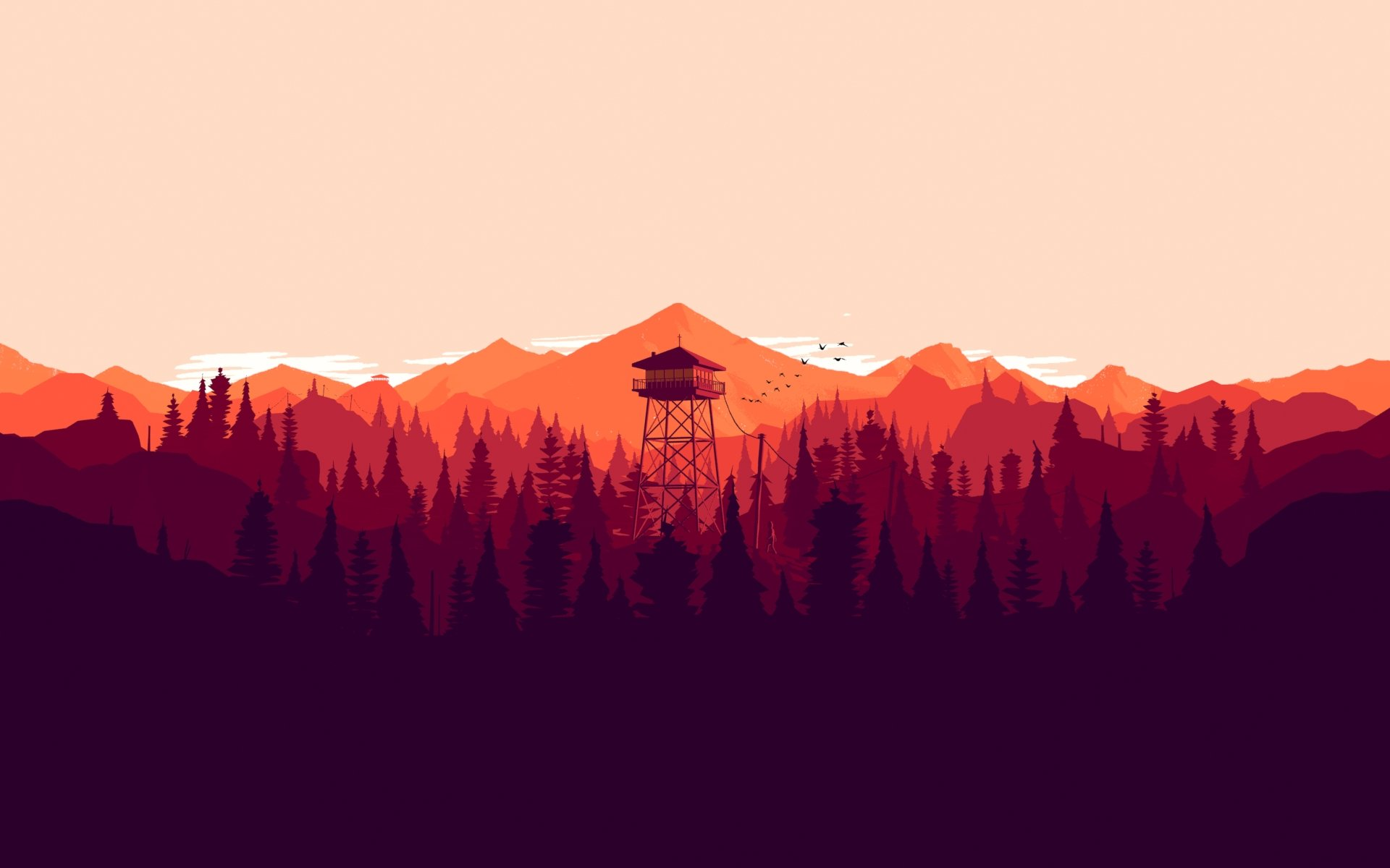My Take On The Campo Santo Olly Moss Concept Art For Firewatch