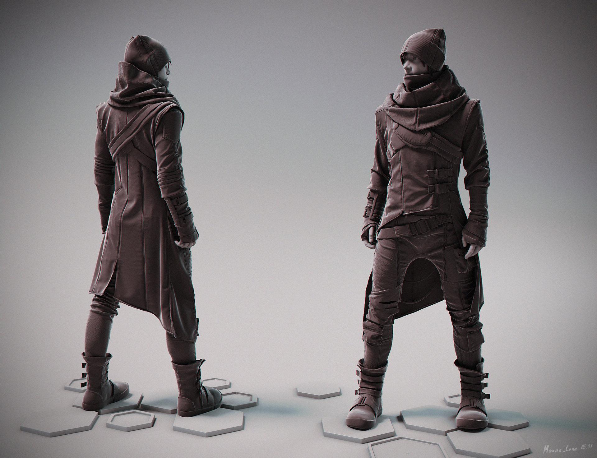 Artstation cyberpunk fashion maria panfilova for Fashion designer craft sets
