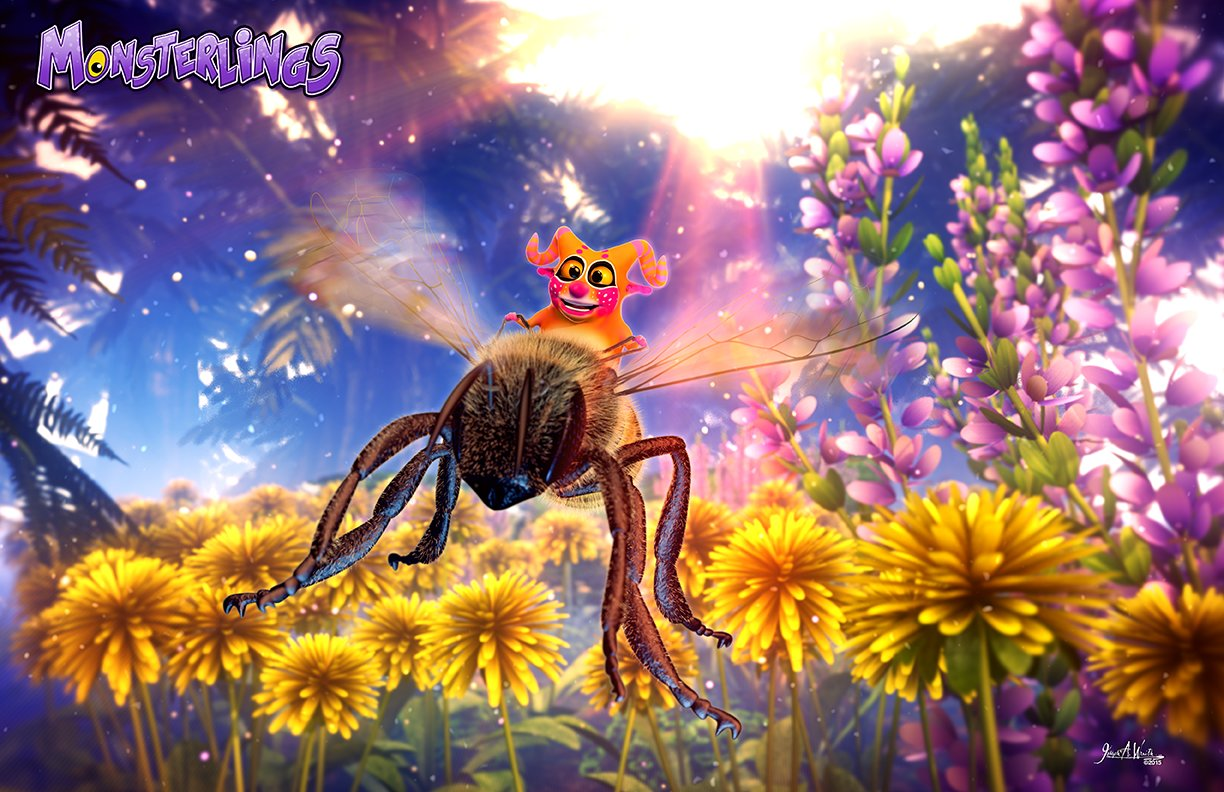 Telior Rides a Bee - 3d Version